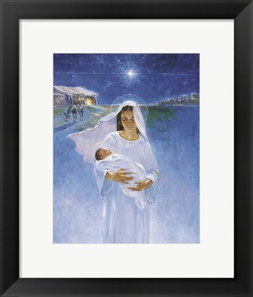 Framed Mary With Jesus Print