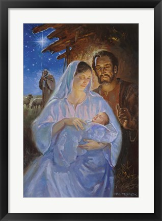 Framed Holy Family Print