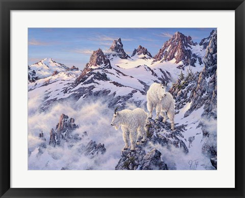 Framed Among The Clouds - Mtn. Goat Print