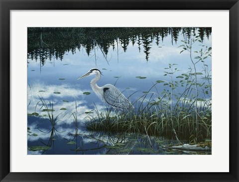 Framed Blue Reflections Print