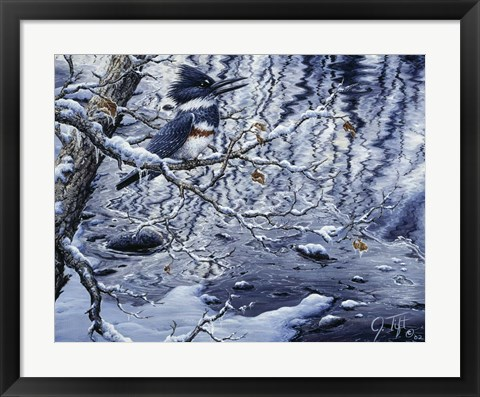 Framed Icy Reflections Print