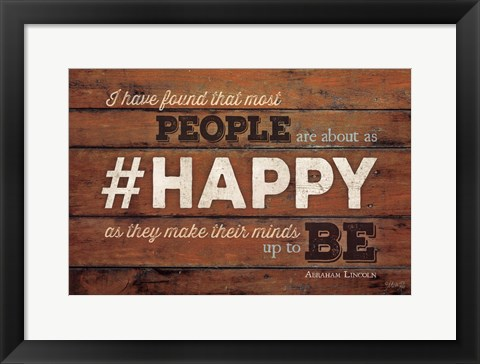 Framed #HAPPY Print