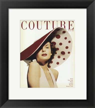 Framed Couture July 1950 Print