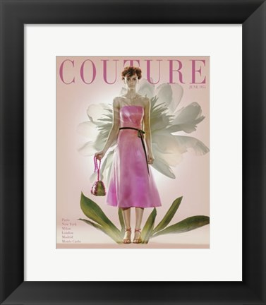Framed Couture June 1955 Print