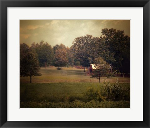 Framed Red Roadside Barn Print