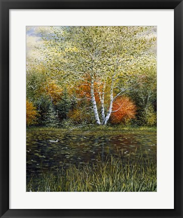 Framed Reflections of Autumn Print