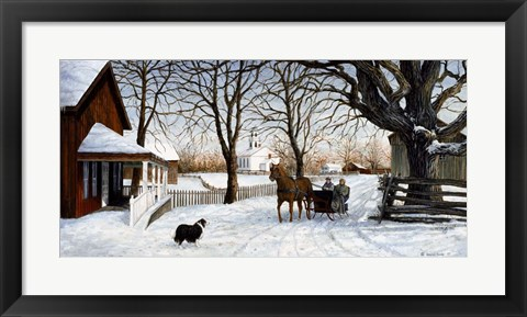 Framed Heading Home Print