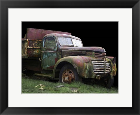 Framed Mac's Trucking GMC Print