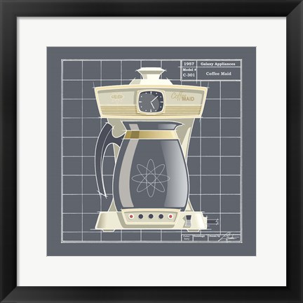 Framed Galaxy Coffeemaid - Ivory Print