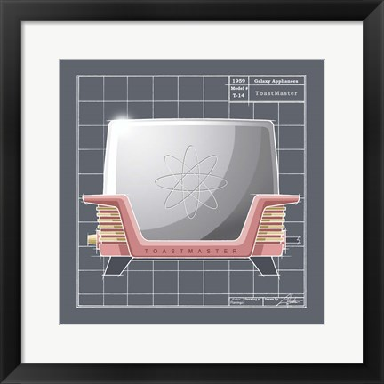 Framed Galaxy Toaster - Flamingo Print