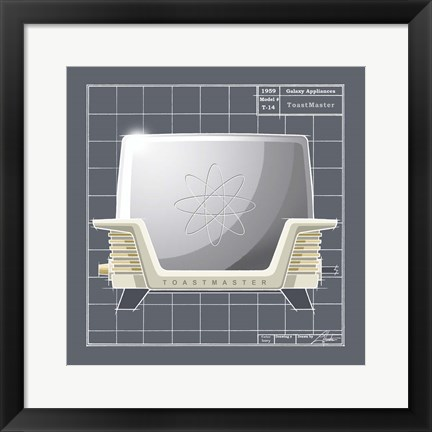 Framed Galaxy Toaster - Ivory Print