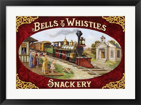 Framed Bells & Whistles Train Print