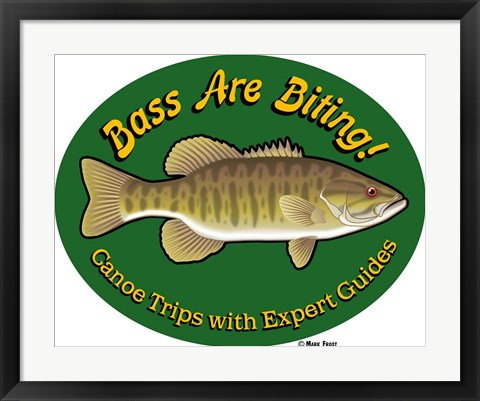 Framed Bass Are Biting Print