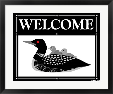 Framed Welcome Loon Print