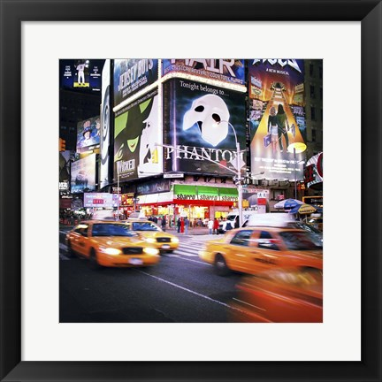 Framed NYC Taxi Taxi Print