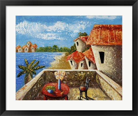 Framed Playa Gorda II Print