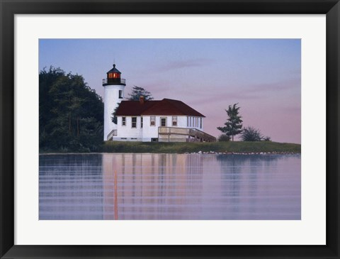 Framed Whiskey Point Lighthouse Print