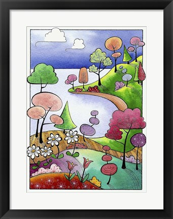 Framed Secluded Peninsula Print