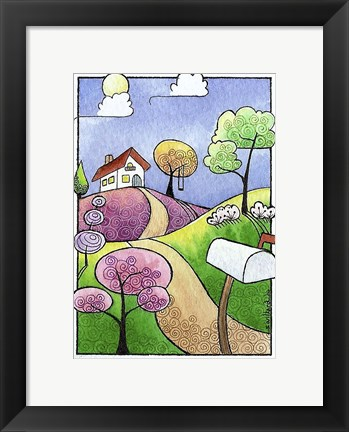 Framed Little Cottage Print