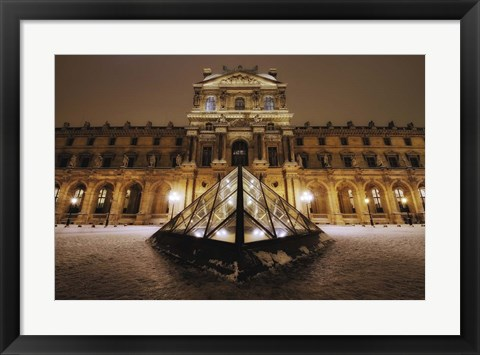 Framed Louvre at Night Print