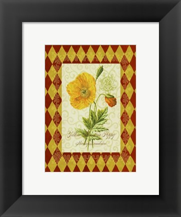Framed Adorned Poppy 2 Print