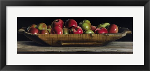 Framed Apple Trencher Print