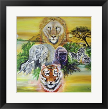 Framed Fantasy Safari Print