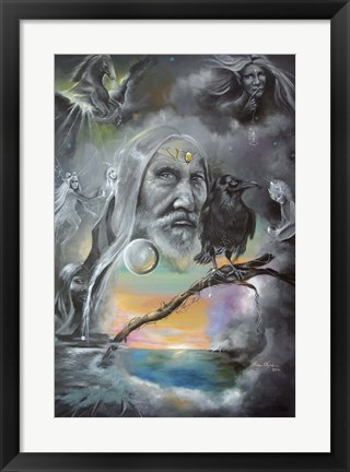 Framed Merlin in Middle Earth Print
