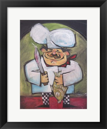 Framed Fish Chef Print