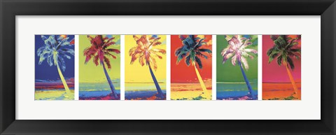 Framed Pop Art Palms Print