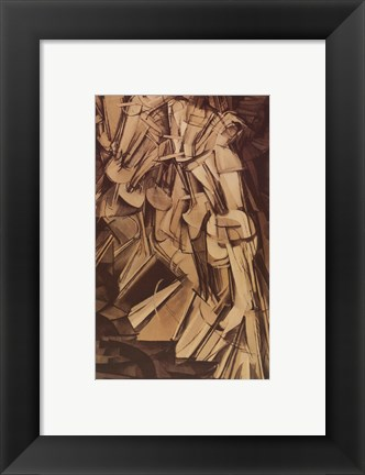 Framed Nude Descending Staircase Print