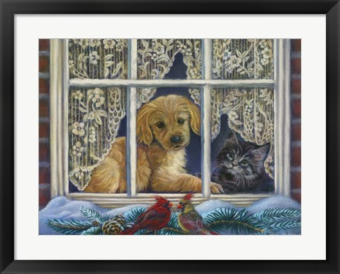 Framed Faithful Friends Print
