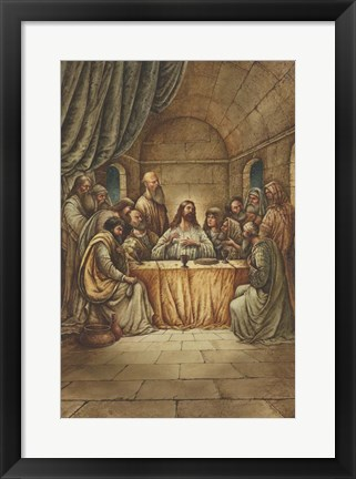 Framed Jesus and His Disciples Print