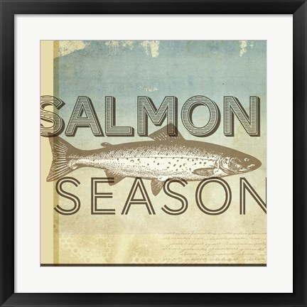 Framed Salmon Season Print