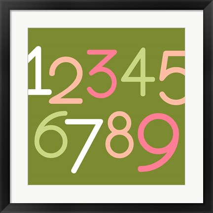 Framed Contemporary Baby Numbers III Print