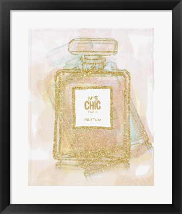 Framed Chic Bottle 1 Print