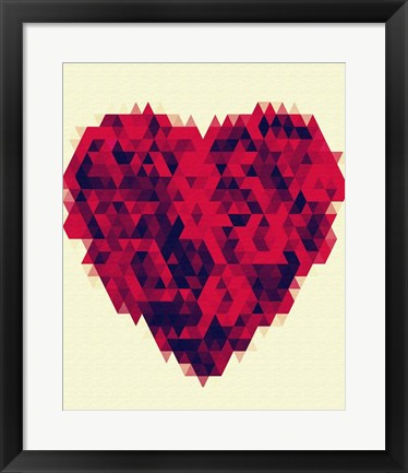 Framed Heart Bouquet Print