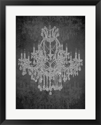 Framed Chandelier I Print
