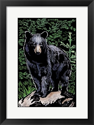 Framed Black Bear 4 Print