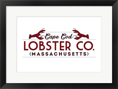 Framed Lobster Co. Print