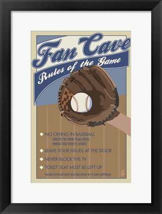 Framed Fan Cave Print