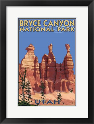 Framed Bryce Canyon - Summer Print