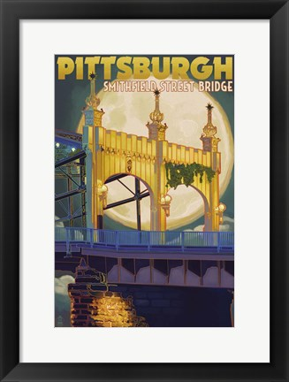 Framed Pittsburgh PA Print