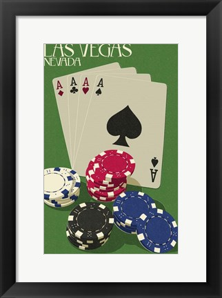 Framed Four Aces Print