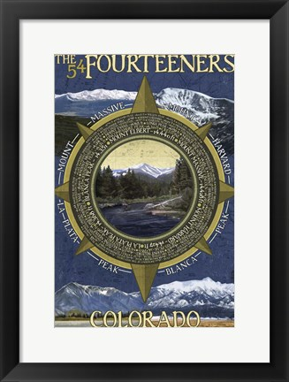 Framed Fourteeners Print