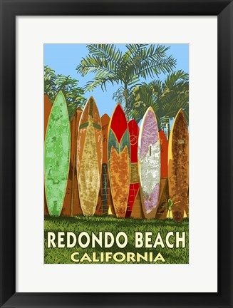 Framed Redondo Beach Print