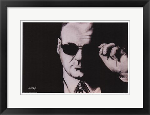 Framed Tony Soprano Print