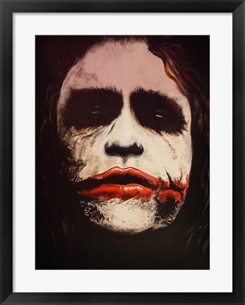 Framed Joker Why So Serious? Print