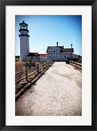 Framed Highland Lighthouse Cape Cod MA Portrait Print