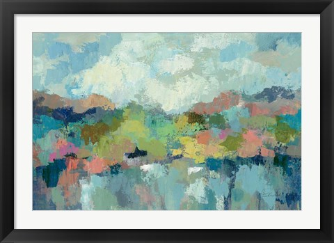 Framed Abstract Lakeside Print